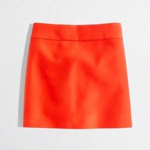 J Crew Orange Flare Mini Skirt